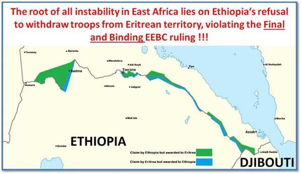 Eritrea-Etiopia, linea di confine
