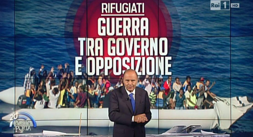 Porta a Porta, Rifugiati: guerra tra governo e opposizione