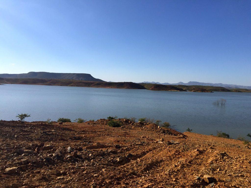 Eritrea, diga di Gergera, costruita come molte altre per trattenere l'acqua per l'energia e l'irrigazione dei campi